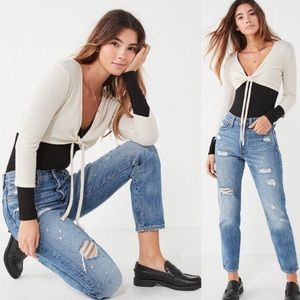 Levi's Wedgie Icon Fit Jeans Distressed NWT
